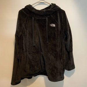 Women's North Face Black fuzzy hoodie
